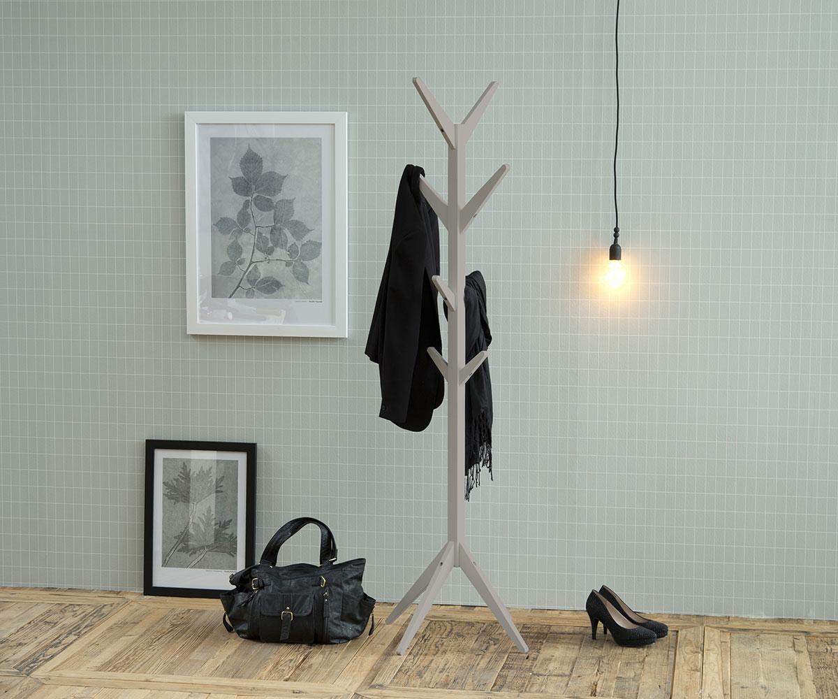 Věšák dřevěný Scotty, 178 cm, šedá