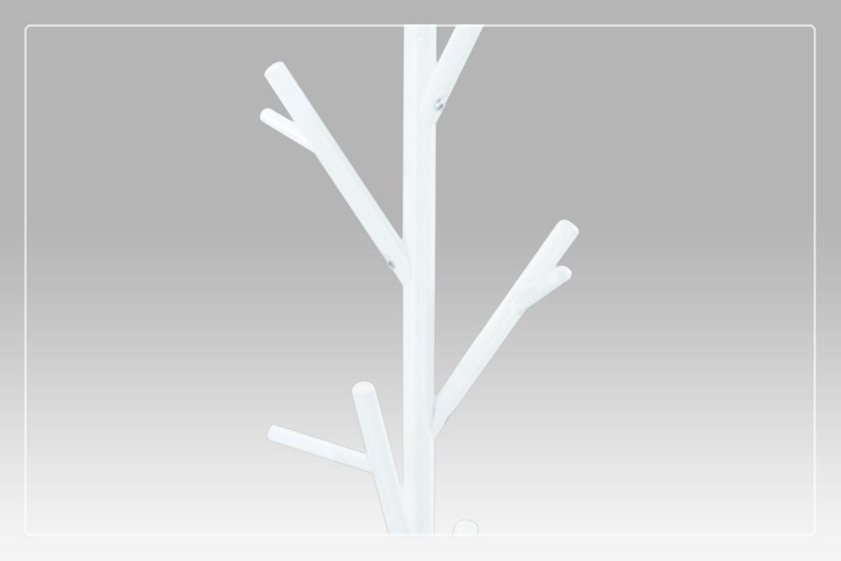 Věšák kovový Victor, 170 cm, bílá