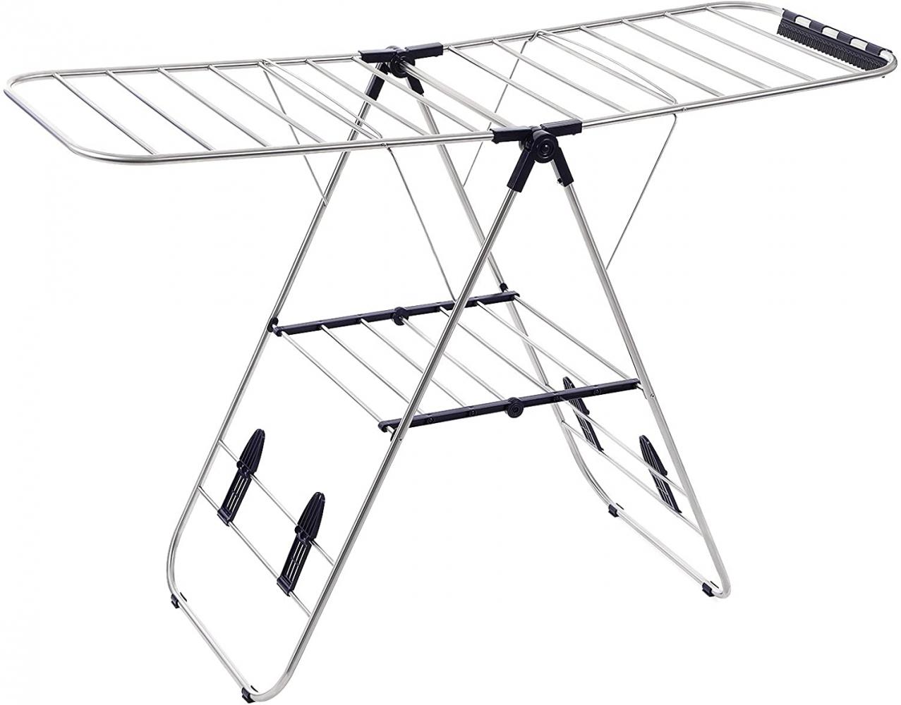 Věšák na prádlo Lerry, 147 cm, stříbrná