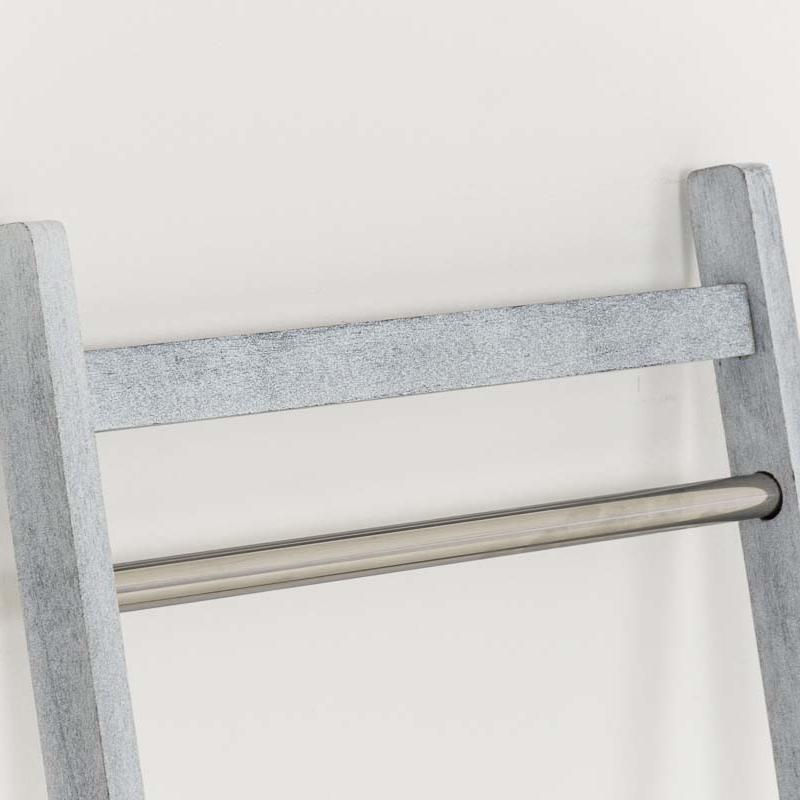 Věšák na ručníky Hokaido, 132 cm, bílá/šedá