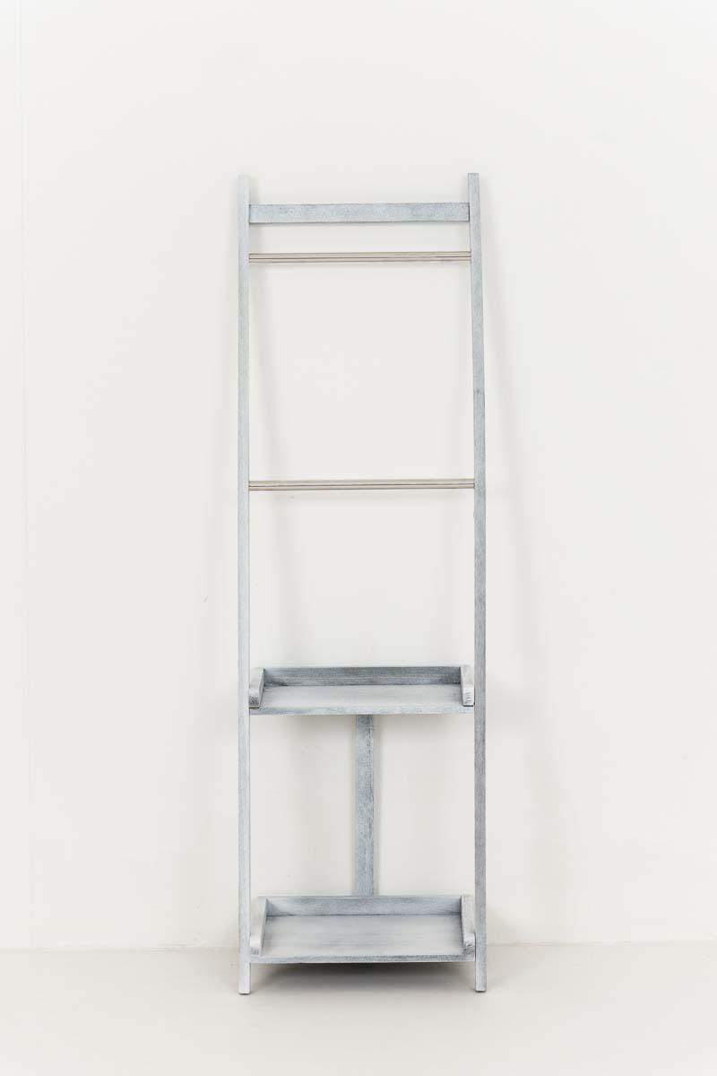 Věšák na ručníky Hokaido, 132 cm, šedá