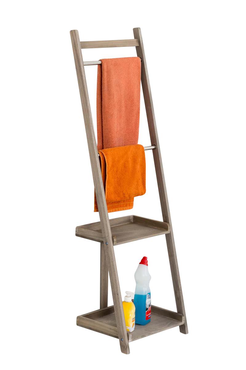 Věšák na ručníky Hokaido, 132 cm, světle hnědá