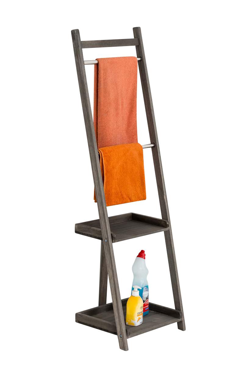 Věšák na ručníky Hokaido, 132 cm, tmavě hnědá