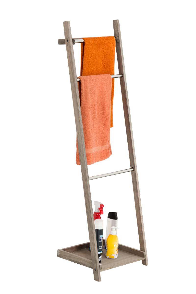 Věšák na ručníky Tokio, 133 cm, světle hnědá
