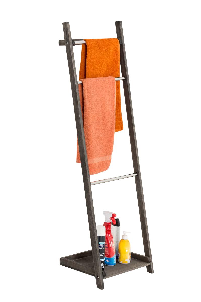Věšák na ručníky Tokio, 133 cm, tmavě hnědá