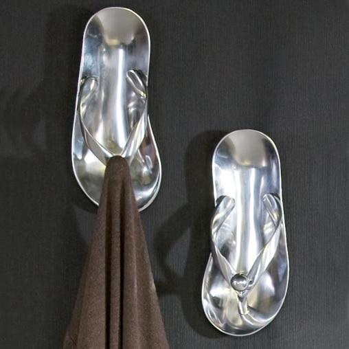Vešiak / háčik na šaty Flip Flop, 24 cm, hliník