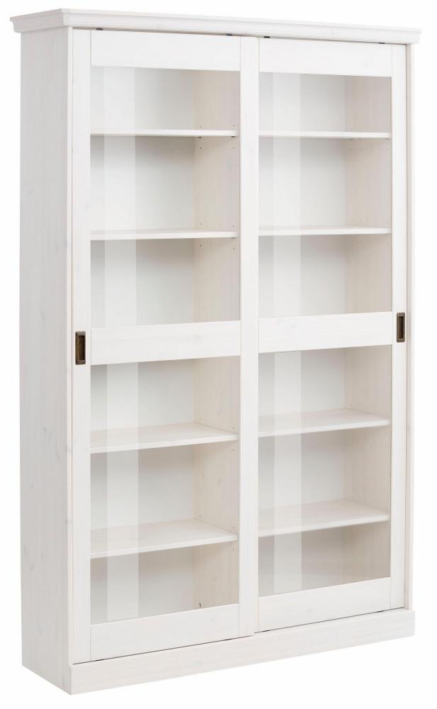 Vitrína Mendy, 185 cm, bílá
