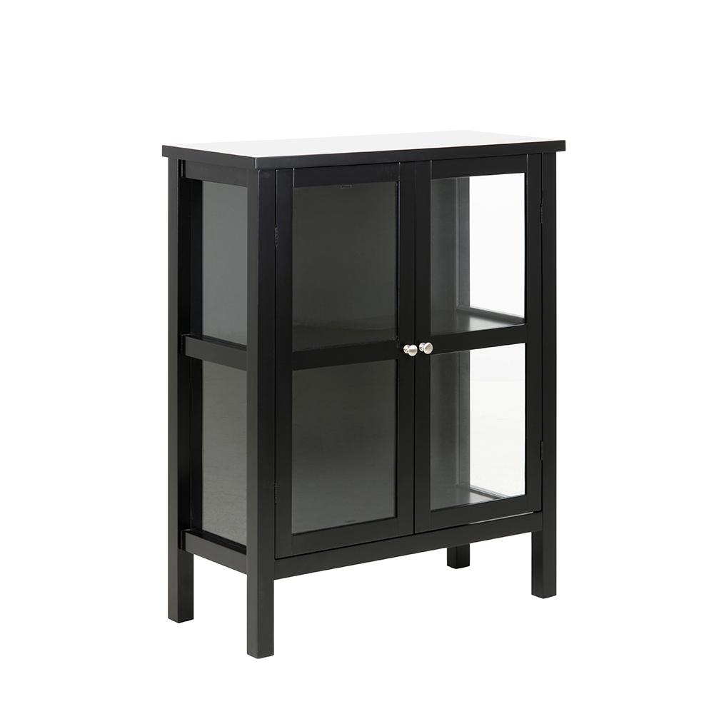 Vitrina s dvoukřídlými dveřmi Elton, 99,5 cm, černá