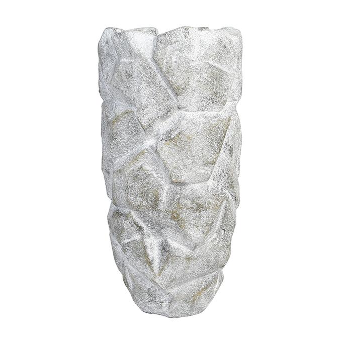 Zahradní váza Deren, 70 cm, šedá