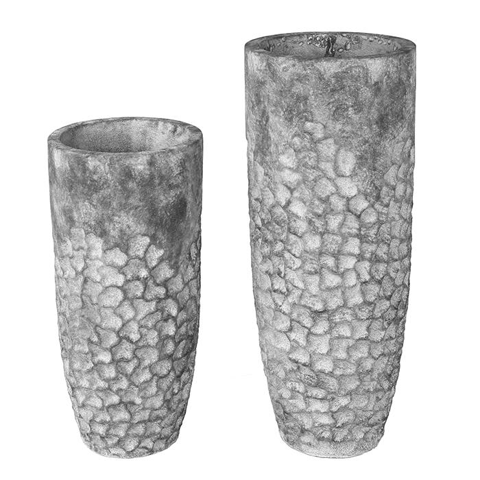 Zahradní váza Dian, 70 cm, šedá
