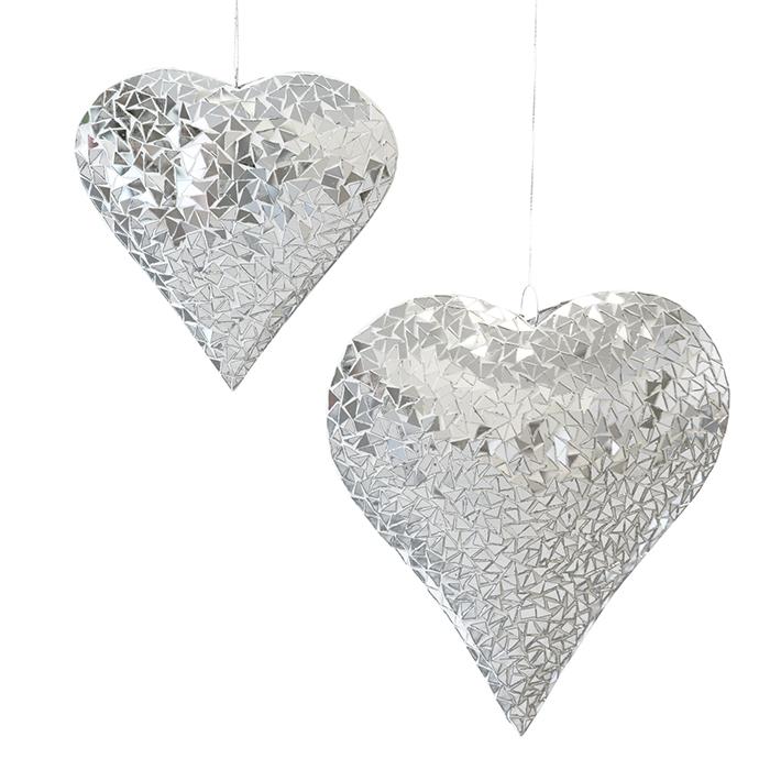 Závěsná dekorace Gary, 23 cm, stříbrná