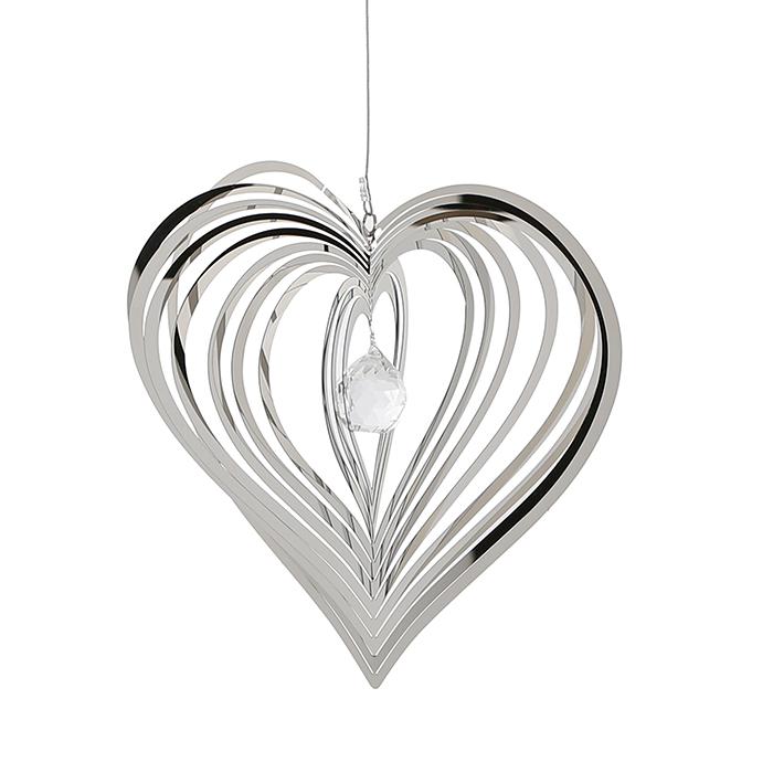 Závěsná dekorace Hert, 72 cm, stříbrná