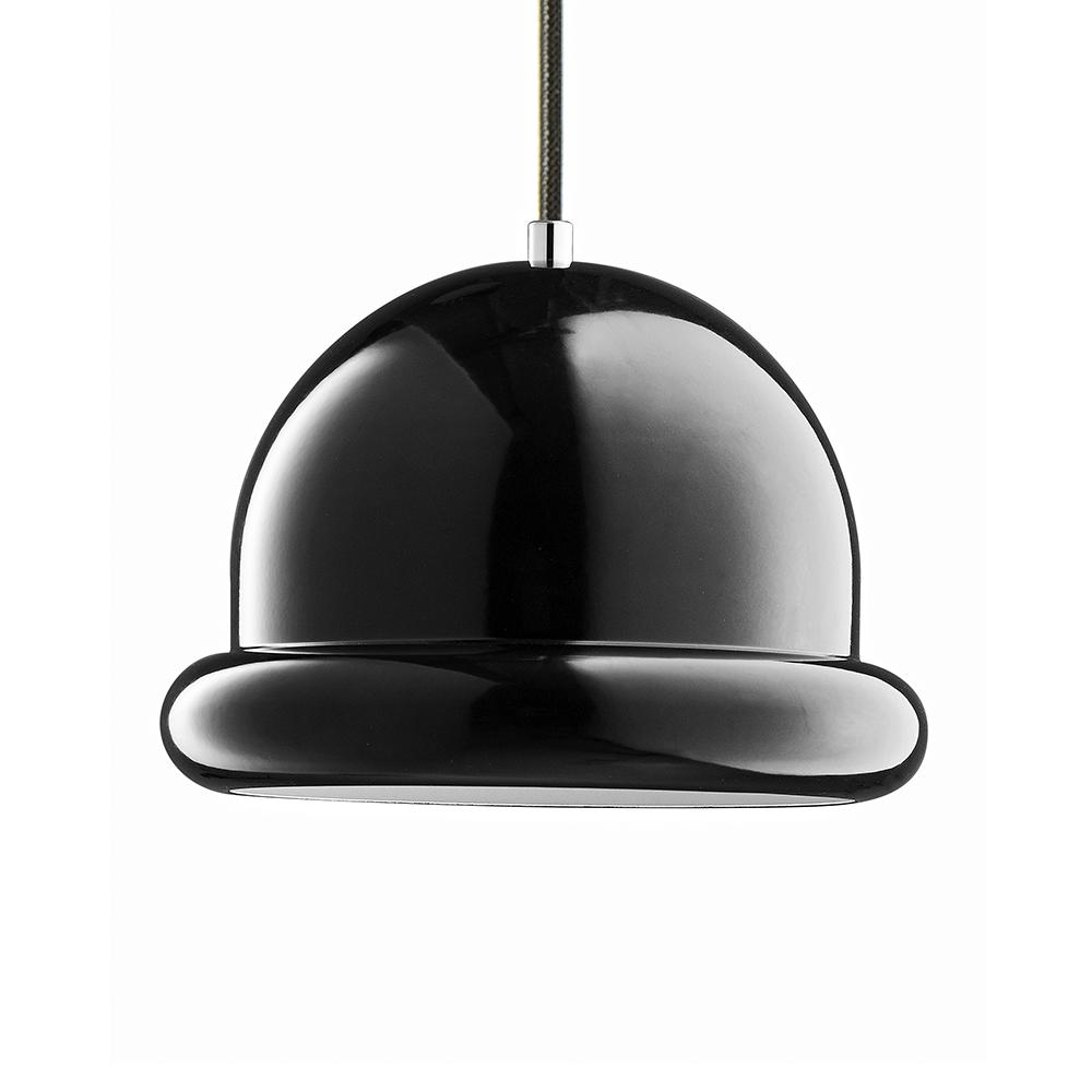 Závěsné svítidlo / lustr Hattrick, 23 cm, černá