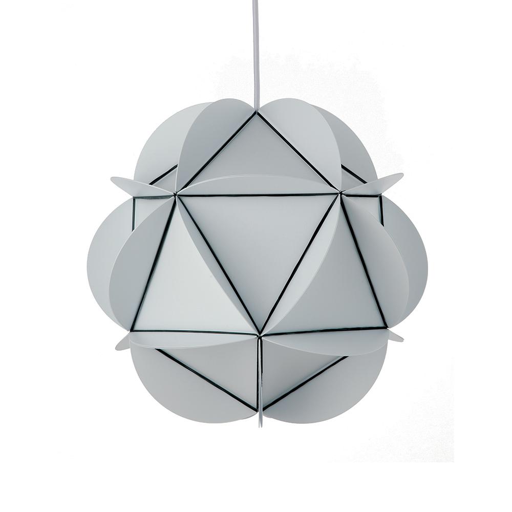 Závěsné svítidlo / lustr DybergLarsen Illumin Rubber20, 35 cm, bílá
