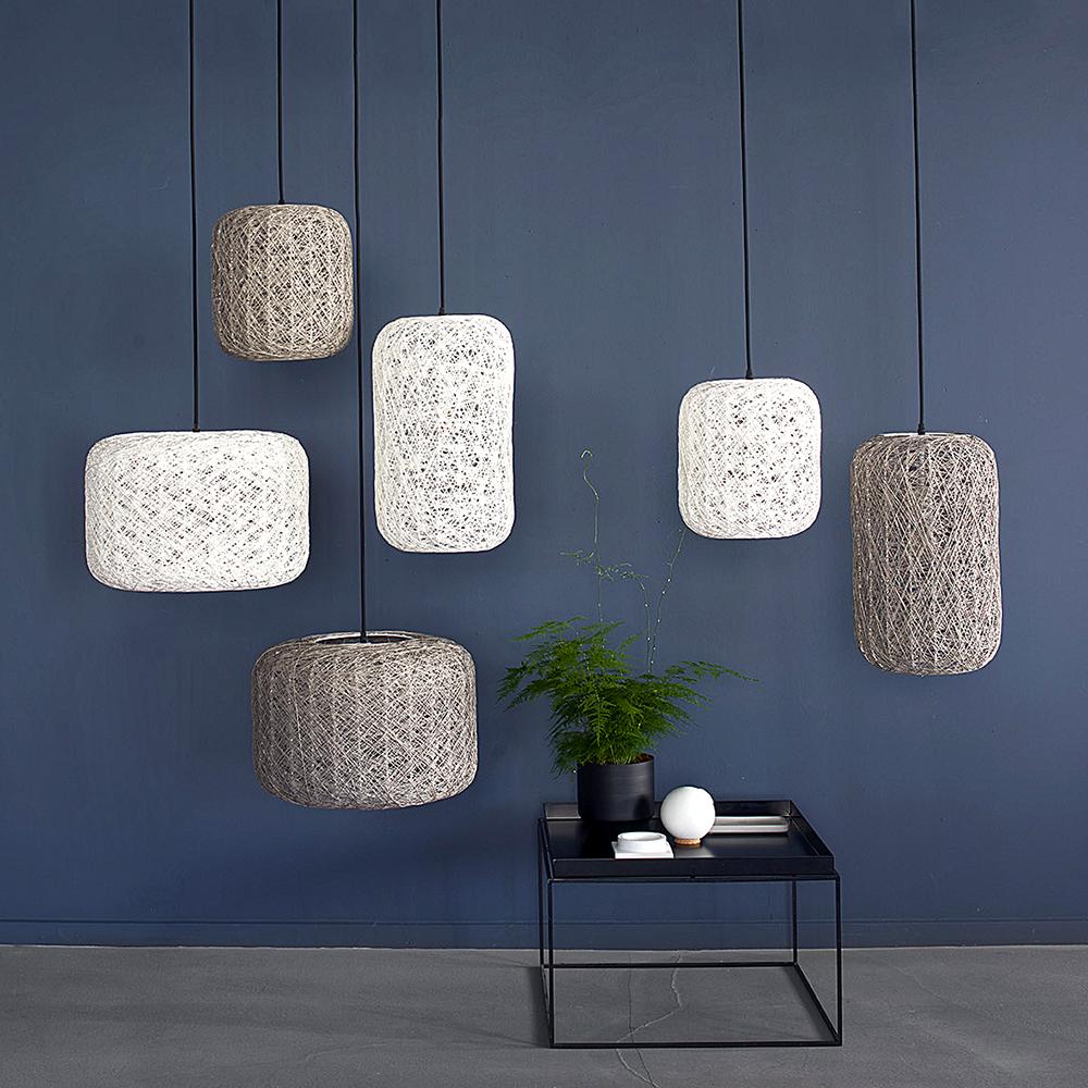 Závěsné svítidlo / lustr Spin, 45x30 cm, bílá