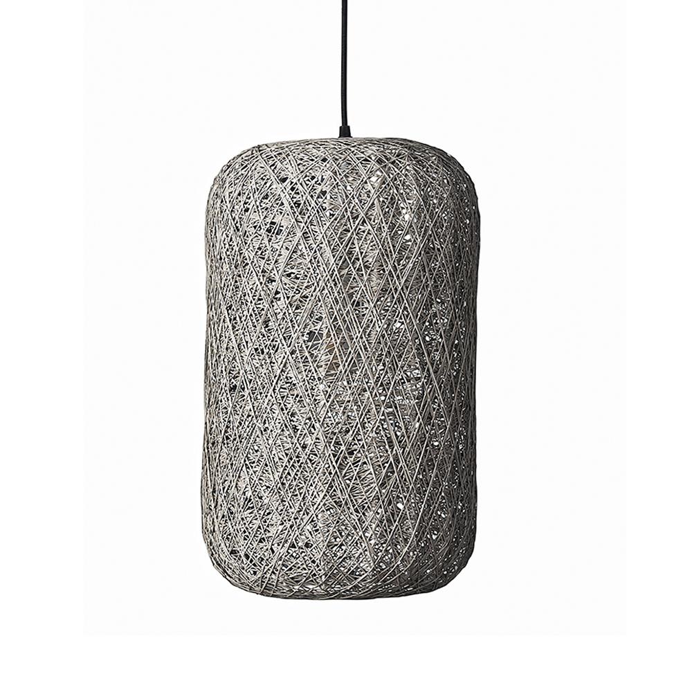 Závěsné svítidlo / lustr Spin, 45x30 cm, šedá