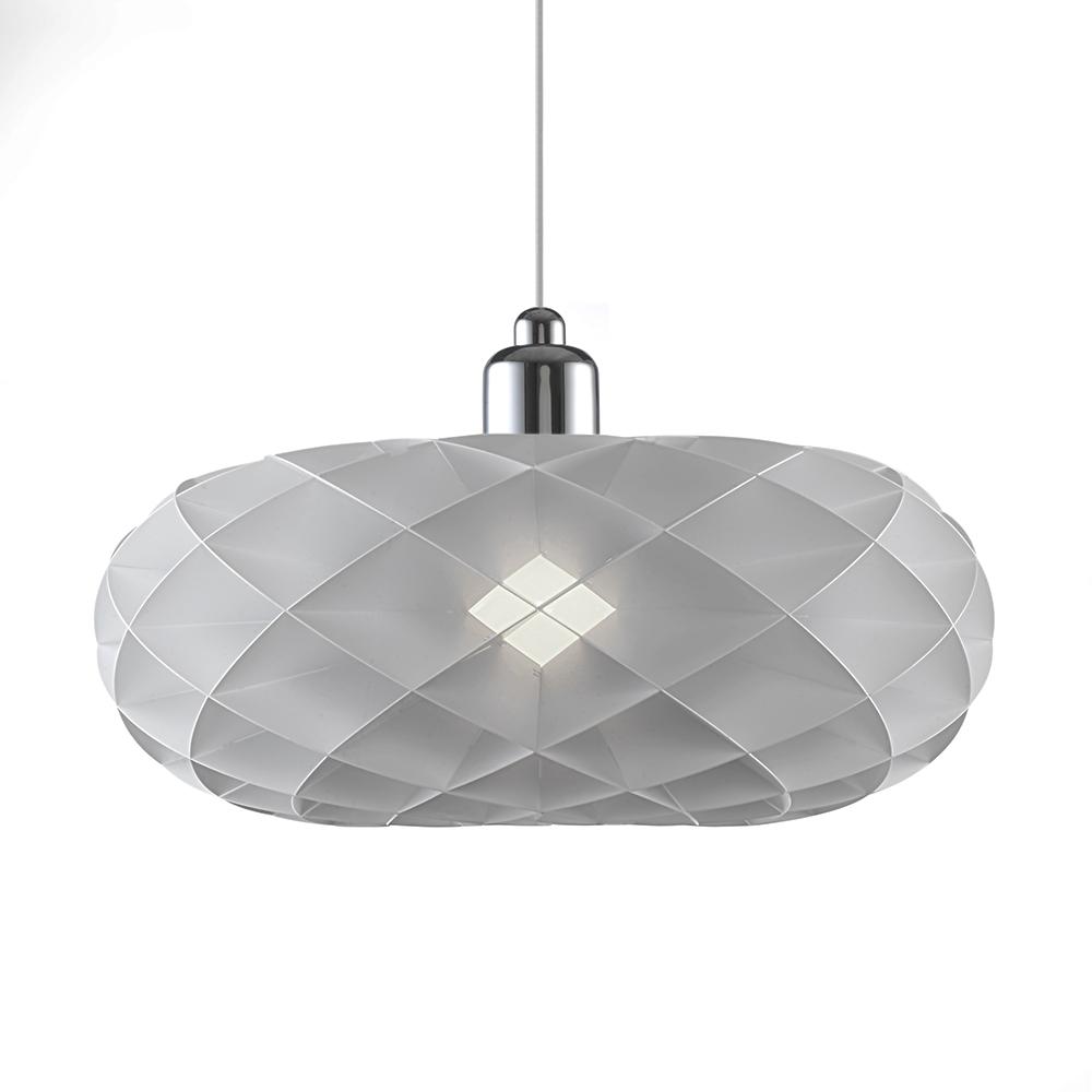 Závěsné svítidlo / lustr DybergLarsen Torus, 40 cm, bílá/chrom