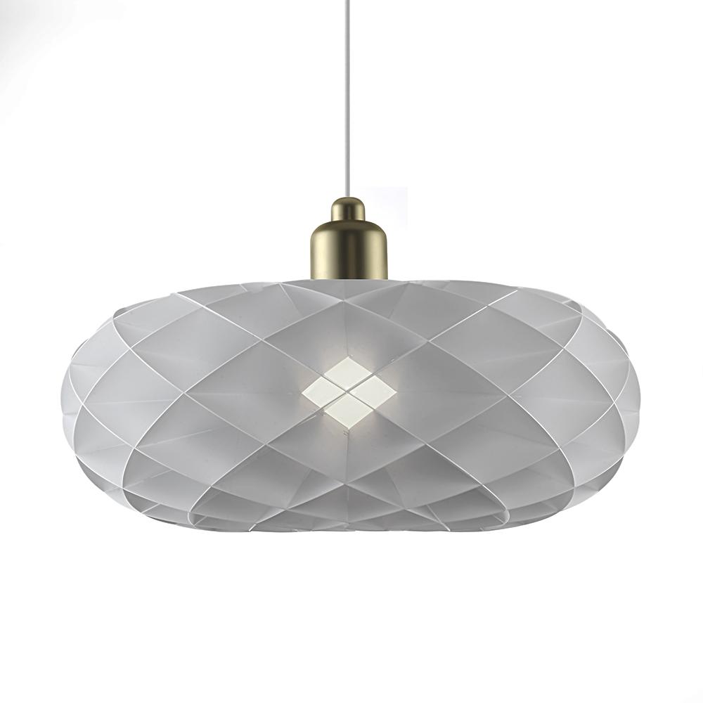 Závěsné svítidlo / lustr DybergLarsen Torus, 40 cm, bílá/mosaz