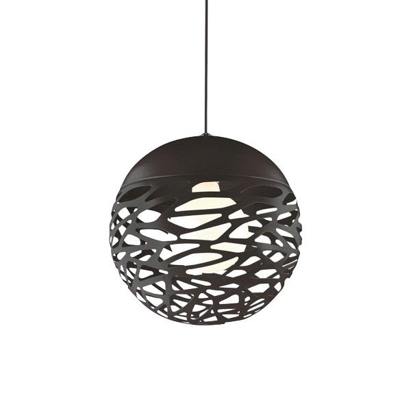 Závěsný lustr kovový Skugga, 30 cm, černá