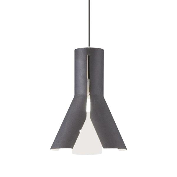 Závěsný lustr kovový Tratt, 38 cm, černá/bílá