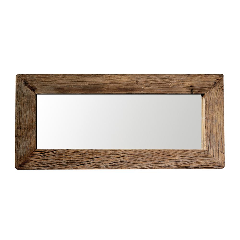 Zrcadlo z recyklovaného dřeva Woodsen, 130 cm