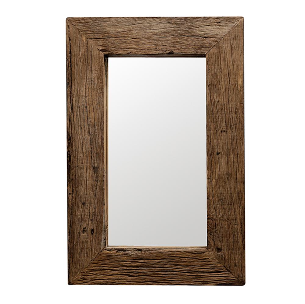 Zrcadlo z recyklovaného dřeva Woodsen, 90 cm