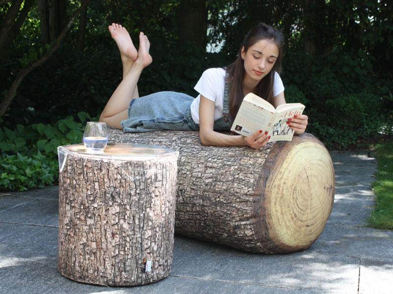 Lavice sofa forest outdoor ve tvaru kmene stromu 120 cm for Sofa exterior 120 cm